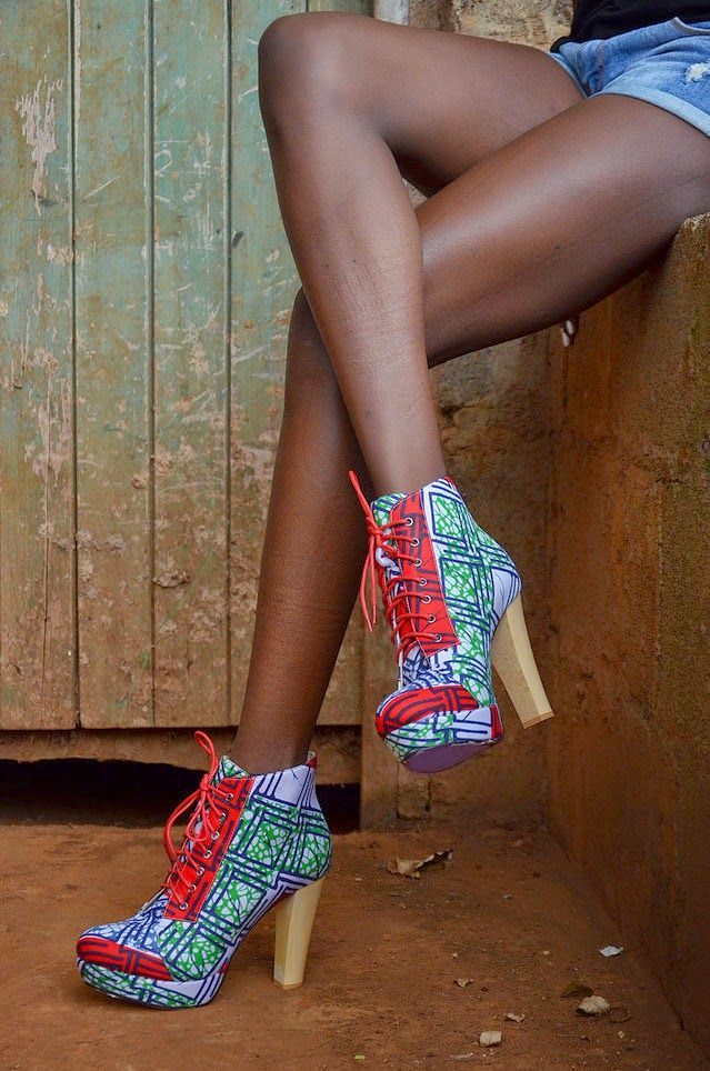 African Prints in Fashion: Queen of the Village: Heels by Buqisi-Ruux