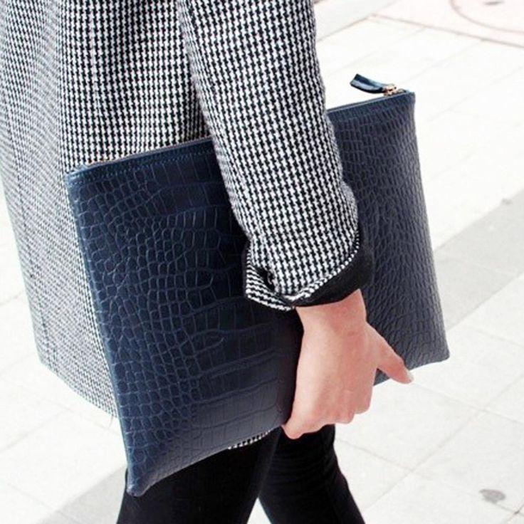 2017 New Fashion Crocodile Grain Women Envelope Clutch Bag Female Ladies Evening Party Large Clutches Handbag Alligator Wallet