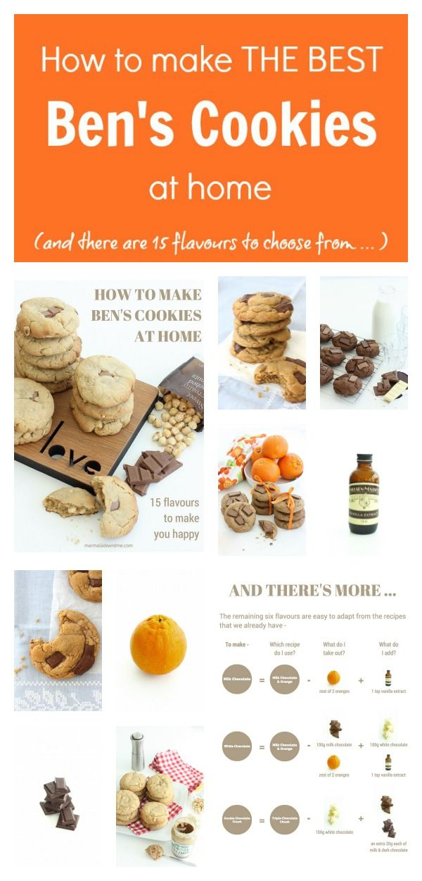 Ever wanted to recreate Ben's Cookies at home? Look no further ... There are recipes for 15 of your favourite flavours here + plenty of tips and tricks to bake those gorgeous cookies with that perfect, slightly gooey centre. Is your mouth watering yet?