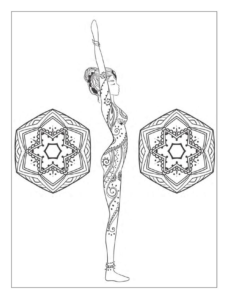 Coloring Pages For Yoga : Best images about adult coloring therapy free