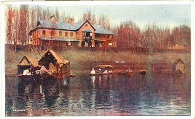 1911 The Bund and Post Office, Srinagar, Kashmir.