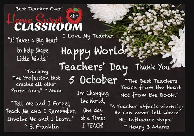WORDS TO INSPIRE FOR WORLD TEACHERS' DAY - by The Art of Creativity Studio - http://www.theartofcreativitystudio.com