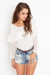 Cloudy Ruffle Top