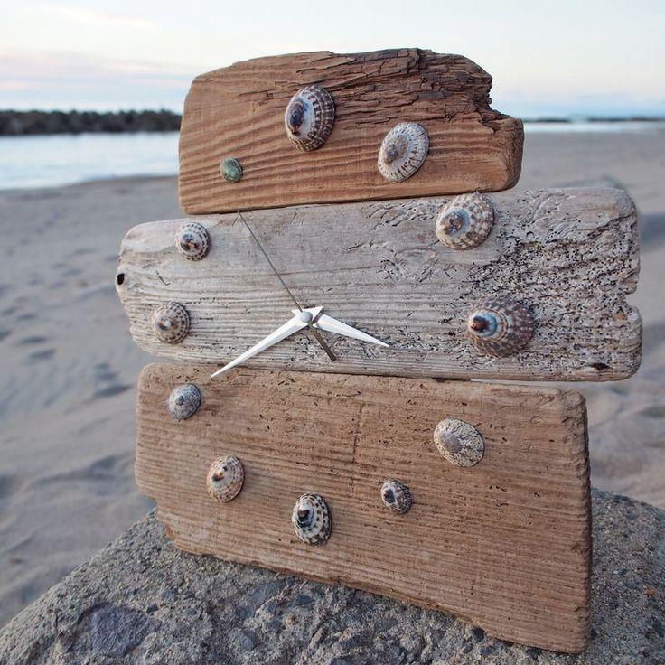 子供と一緒に♪流木で夏雑貨を楽しもう!〜時計編〜|LIMIA (リミア)  Handmade clock ♪ Made of wood and shells cute♡