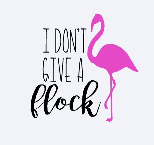Yeti Decal Flamingo Decal I Don't Give A Flock by DecalsByDawn