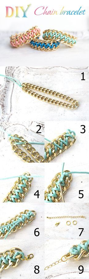 Double Chain bracelet DIY to brighten your wardrobe #jewelryinspiration #cousincorp