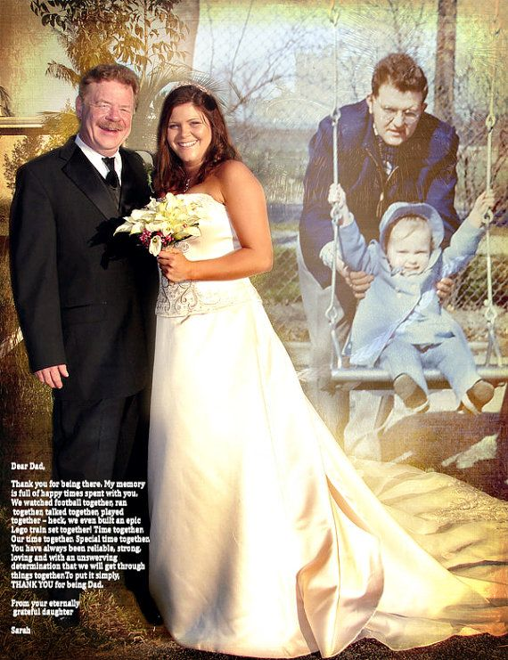 Wedding Gift To Daughter From Father : Gift Photo Art Custom Photo Editing Weddings wedding father daughter ...
