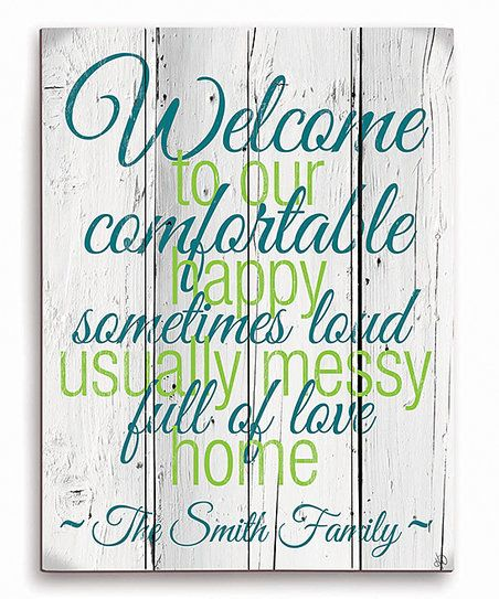 Draw warmth and amiability with this unique personalized welcome décor. Shipping note:  This item will be personalized just for you. Allow extra time for your special find to ship.
