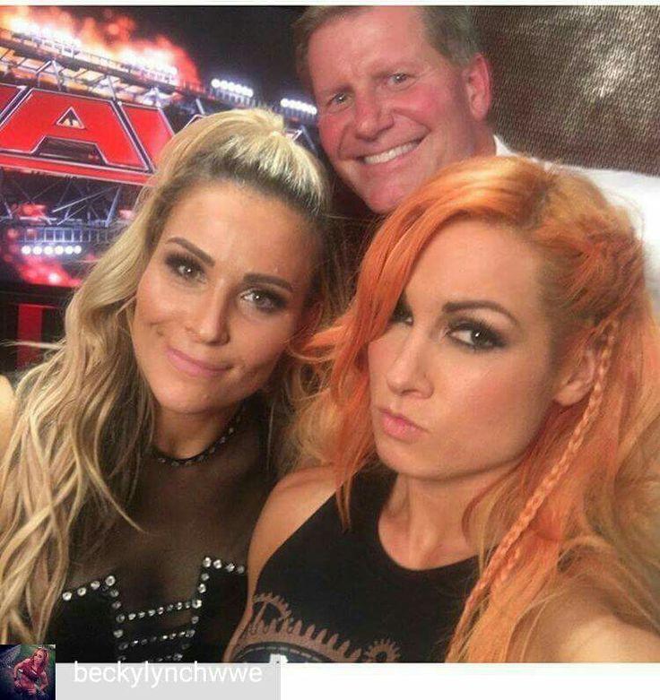 Natalya, Becky Lynch, John Laurinaitis