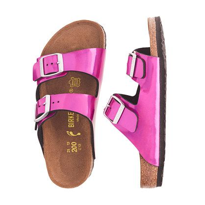 The German-based Birkenstock family has been making footwear for over 230 years, so they're pretty much pros at this point. These classic sandals are super durable and crazy comfortable, thanks to shock-absorbing soles that mean kids can wear—and play in—them all day. <ul><li>Man-made upper.</li><li>Suede lining.</li><li>EVA sole.</li><li>Made in Germany.</li></ul>