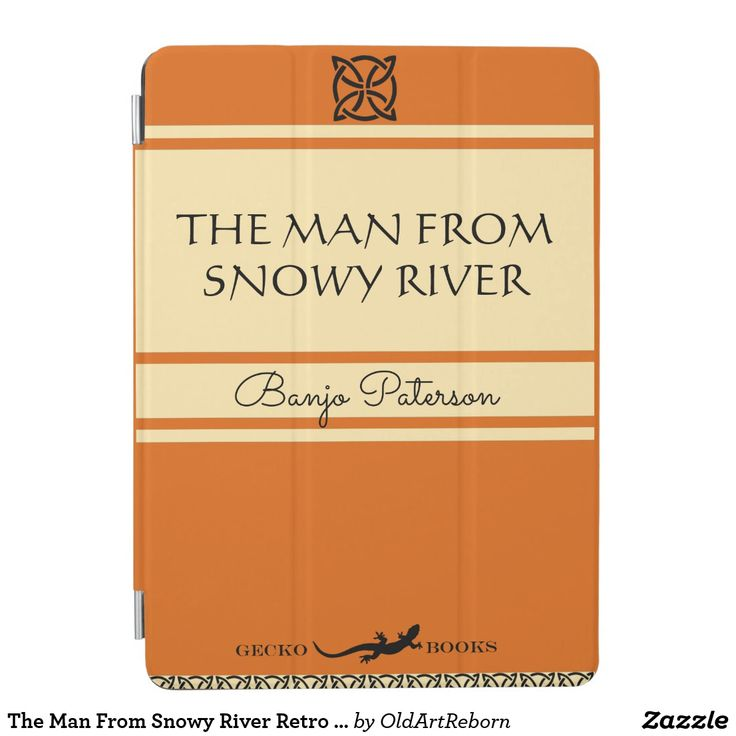 The Man From Snowy River Retro Book Cover iPad Air Cover