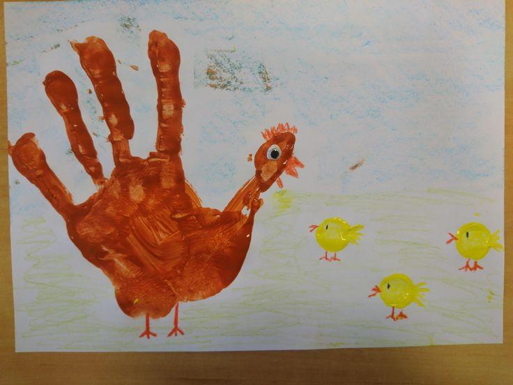 Kura z ręki kurczaki z korka zwierzęta wiejskie DIY ART ACTIVITIES FOR KIDS