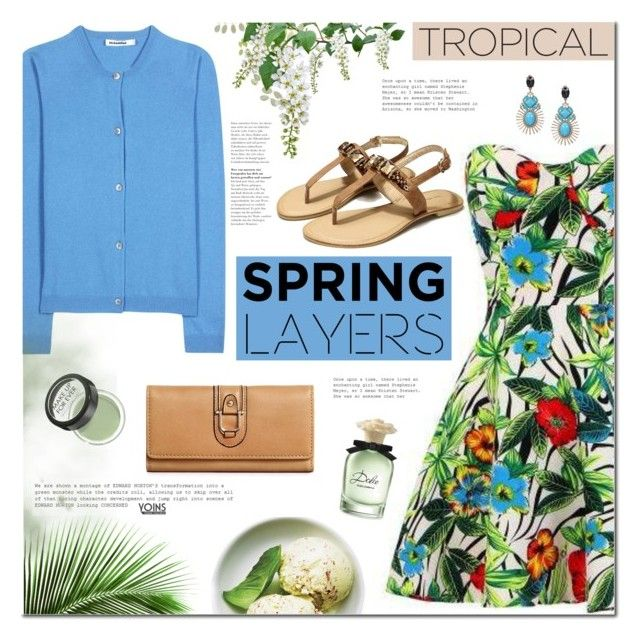 Cute Spring Cardis by mada-malureanu on Polyvore featuring Jil Sander, MAKE UP FOR EVER, Dolce&Gabbana, cutecardigan and springlayers