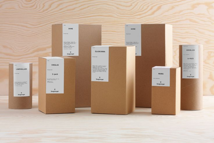 Packaging by Kurppa Hosk for Swedish contemporary furniture, art and design curator and retailer Designtorget