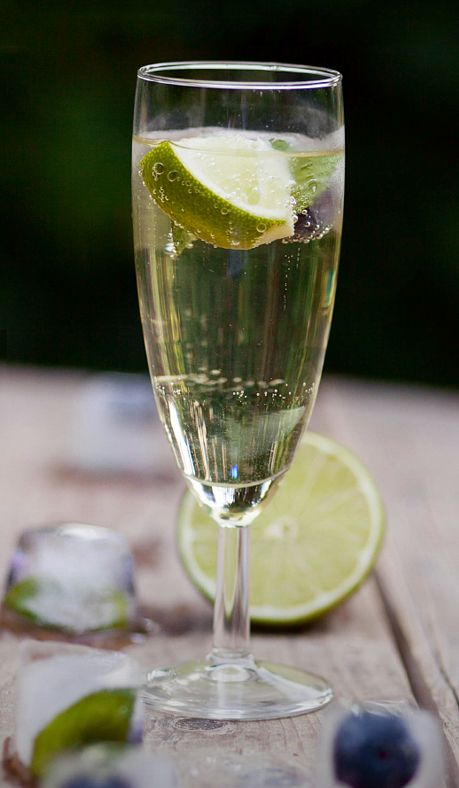 The Mexican 75. Ingredients—1 oz. Blue Nectar Silver, ½ oz. fresh lime juice,…