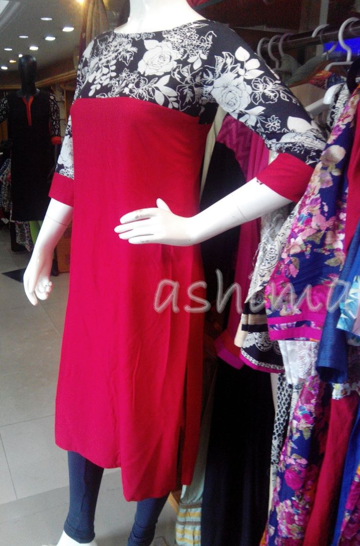 Code:1303161-Rayon Cotton With Printed Yoke & Sleeve - Price INR:890/-