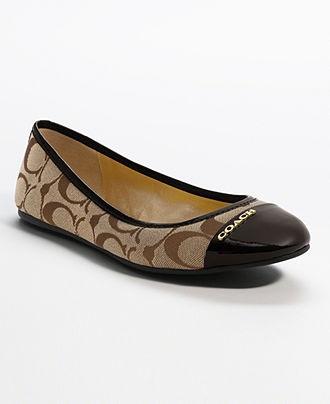 COACH DARENA FLAT - Flats - Shoes - Macy's...Yes please :)