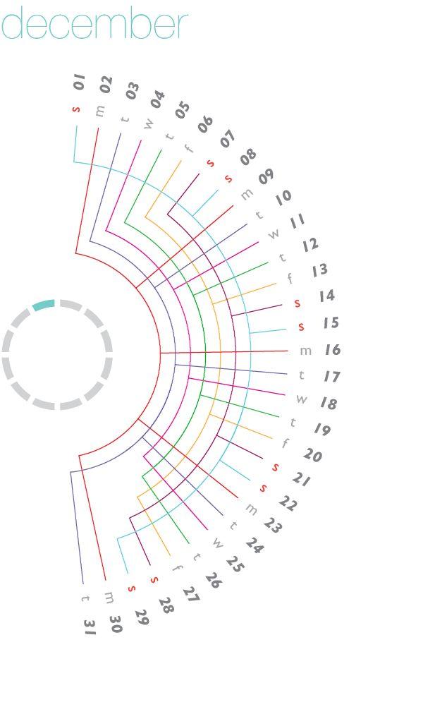 Calendars: An Exploration of Form on Behance