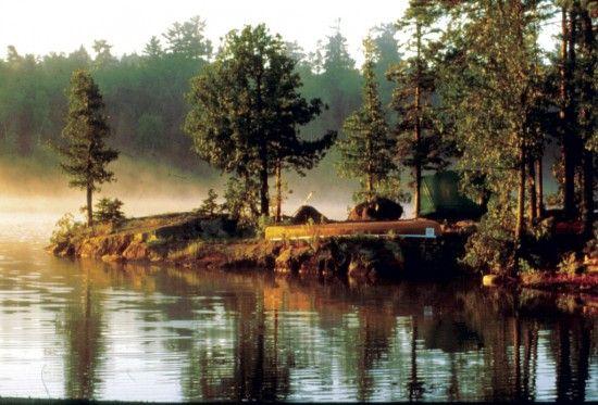 Boundary Water Canoe Area campsite.