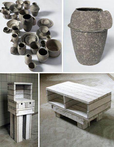paper pulp furnishings