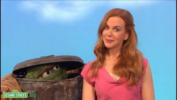 Looks like Oscar the Grouch has a bad case of Rock Brain! Sesame Street: Nicole Kidman and Oscar the Grouch -  Stubborn