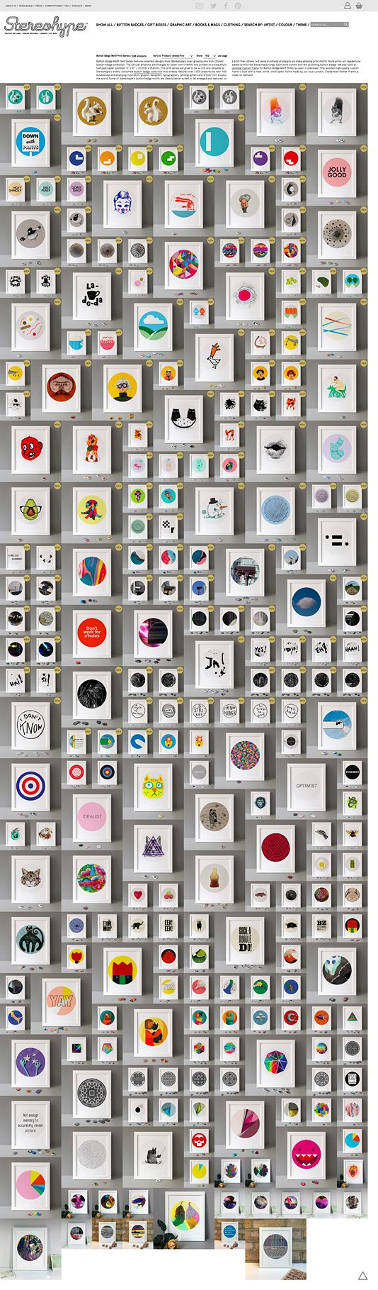 54 new Stereohype Button Badge Motif Prints have just been released over at https://stereohype.com and include work by Anthony Burrill, Kapitza, Matthew Kenyon, Cynthia Bataille, Goldlion Studio, Sarah Ray, Stefan G Bucher, Judith Egger, Gavin Lucas, Kike Riesco, Jean-Claude Chianale, FL@33. All vibrantly printed on beautifully textured 310gsm Hahnemühle paper and certified with our embossed Stereohype seal. #stbbmp