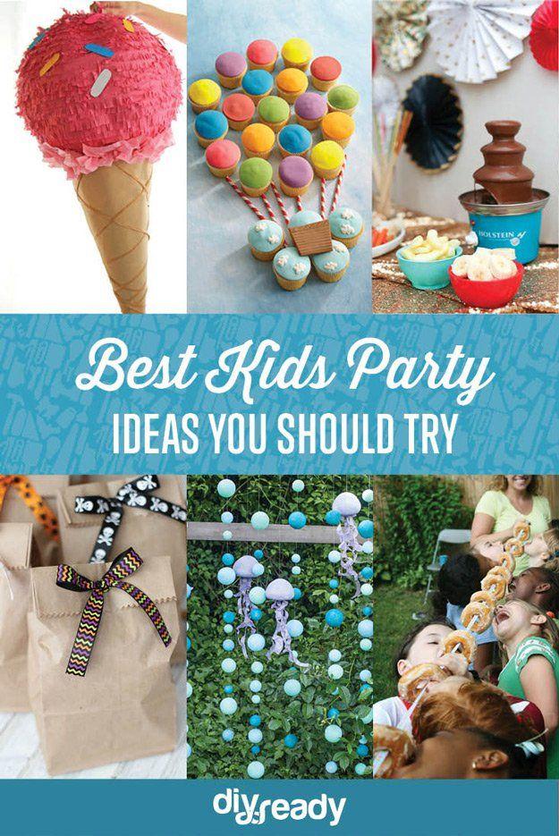 Best Kids Party Ideas | https://diyprojects.com/best-kids-party-ideas/