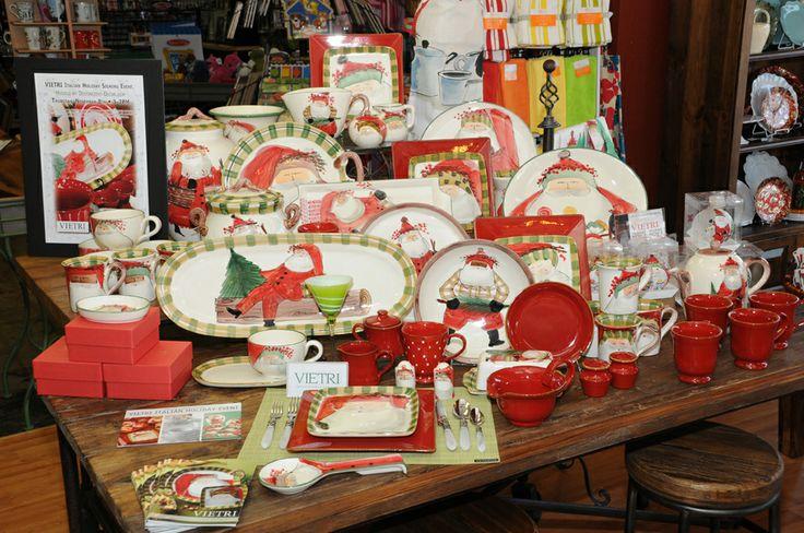 Vietri Old St Nick Dinnerware Store Displays