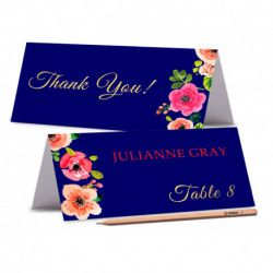 TENT PLACE CARDS Printed Floral Wedding Place Card Peony Place card Editable Wedding Name Cards Food Labels Cards