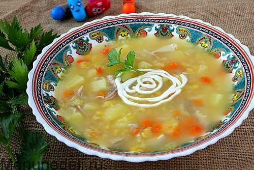 Суп картофельный с бобовыми и курицей как в детском саду