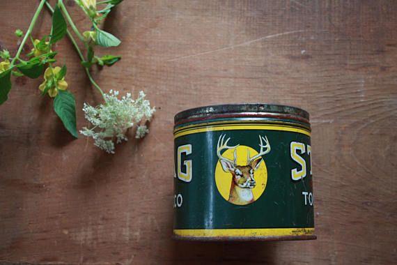 Vintage Stag Tobacco Tin