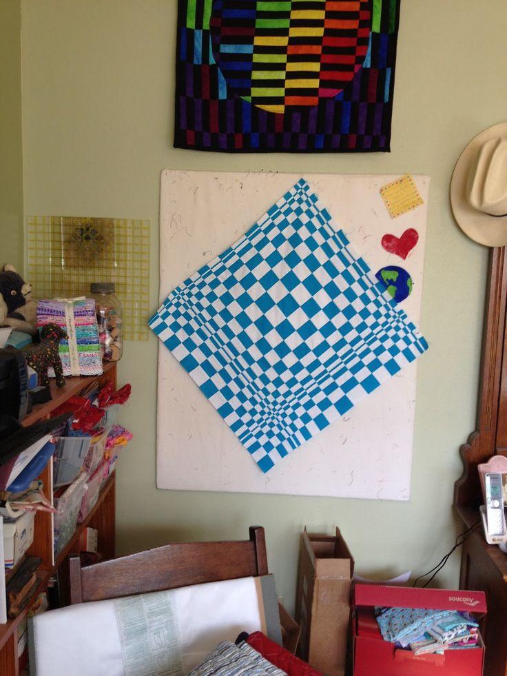 Black n blue dress illusion quilts