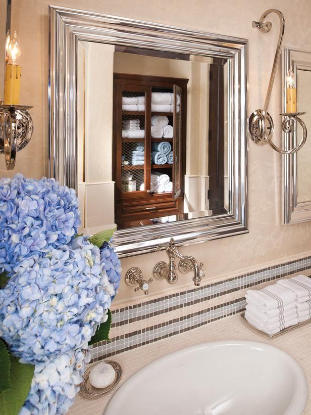 Glass-Walled Bathtub With Wall-Mounted Flat-Screen TV : Designers' Portfolio : HGTV - Home & Garden Television
