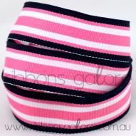 pink|navy surfboard striped grosgrain (23mm wide) [per metre] - $1.60 : Ribbons Galore, your online store for the best ribbons #ribbons #ribbonsgalore #stripedgrosgrain
