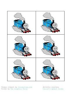 Thomas the Train game from carriesspeechcorner!