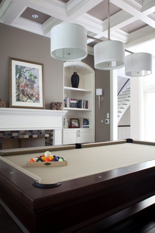 exciting home billiard room design outstanding modern pool table in appealing home billiard room design with white fireplace mantels and a