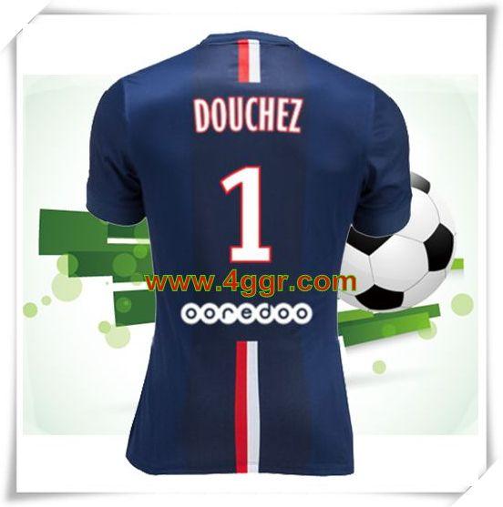 acheter 2014-2015 Fly Emirates Paris Saint Germain(psg) Douchez 1 Domicile maillot de foot homme chine