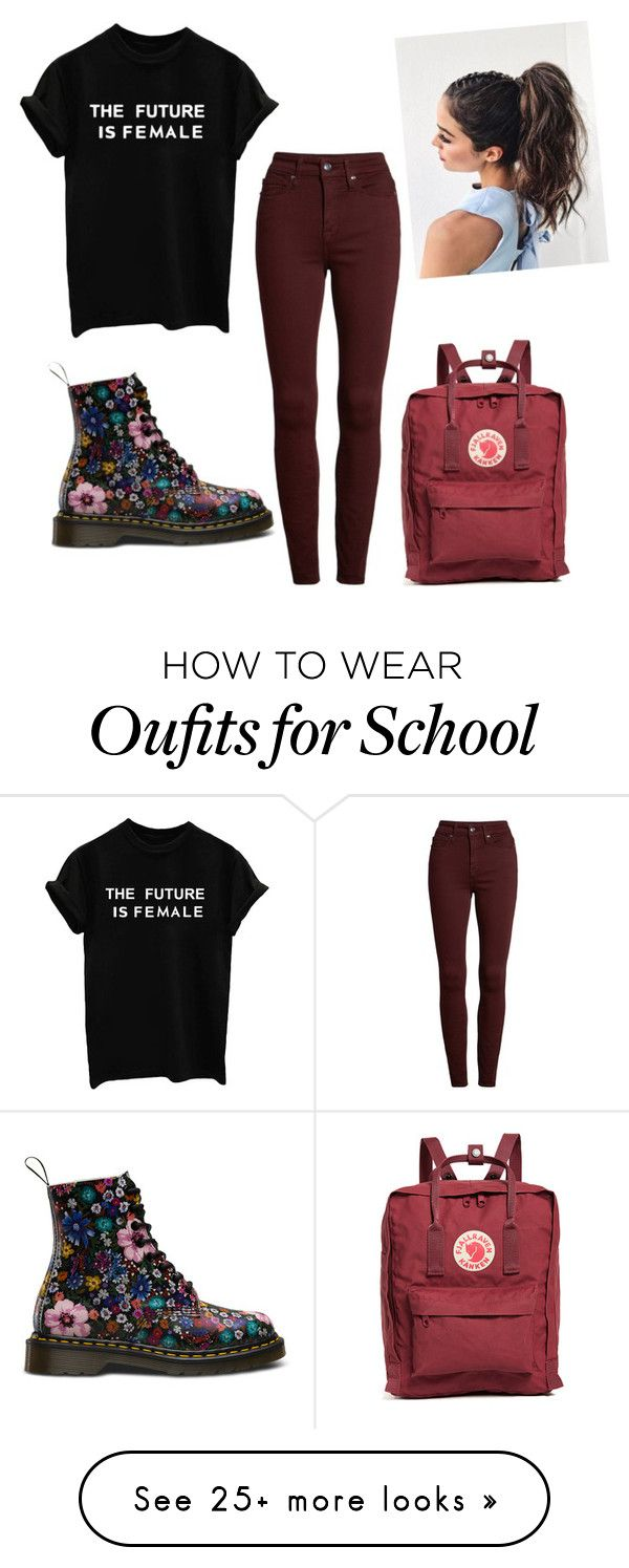 """School outfit #1"" by brushes-and-books on Polyvore featuring Good American and Fjällräven"