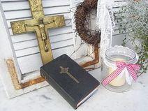 altes Gebet- & Gesangsbuch shabby chic Buch