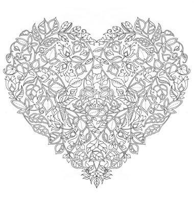 Free Valentines Day Johanna Basford Colouring Book Page Valentin Napi Szinezo