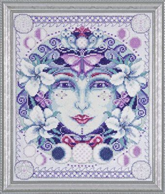 Mother Moon Design by Joan Elliott Complete Counted Cross Stitch Kit