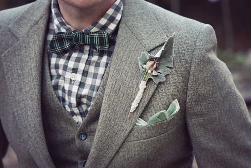 suit: Men Clothing, Grey Suits, Bows Ties, Mixed Patterns, Men Style, Lady Hats, Bowties, Shades Of Green, Grooms Fashion