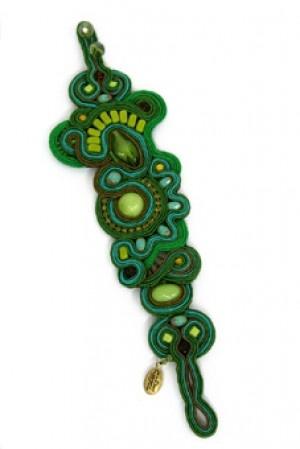 Forest wide green bracelet by Dori Csengeri #DoriCsengeri #greenbracelet #oversized #designermaker