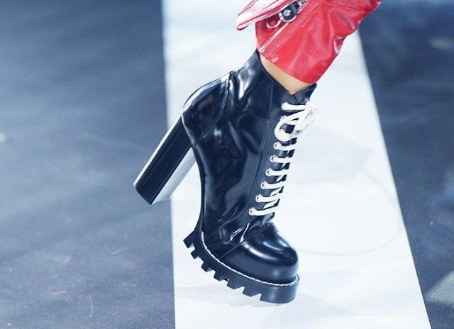 The hiking boot is back with a boom, and no more so than at Louis Vuitton.