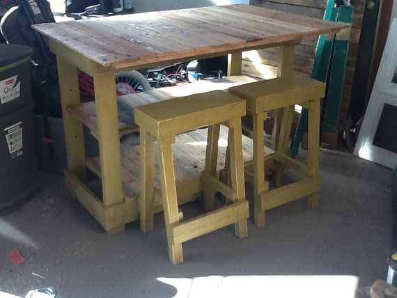 Rustic Cottage Pallet Kitchen Island Bar On Etsy
