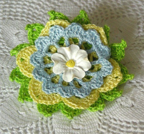 Hey, I found this really awesome Etsy listing at https://www.etsy.com/listing/29393905/spring-garden-flower-brooch-crocheted