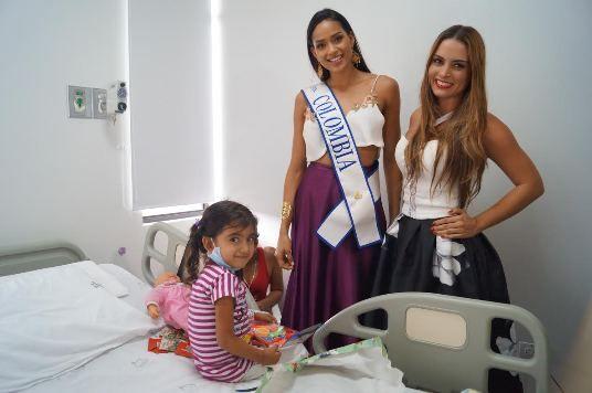 Señorita Colombia y la Gestora Social de Risaralda visitaron los niños en el San Jorge