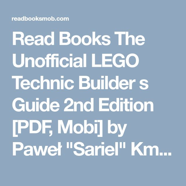 48 best my books images on pinterest read books the unofficial lego technic builder s guide 2nd edition pdf mobi fandeluxe Choice Image
