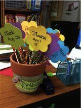 Classroom DIY: DIY Birthday Blooms!  http://www.classroomdiy.com/2012/06/diy-birthday-blooms.html