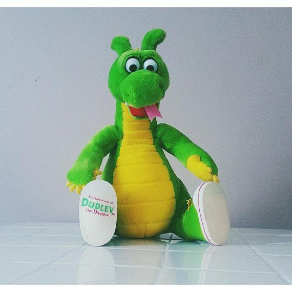 a2540891d2968 Rare DUDLEY The Dragon 90s Vintage Stuffed Animal Plush Kids Gift ...